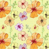 seamless pattern with petunia