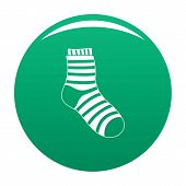 Fuzzy Sock Icon. Simple Illustration Of Fuzzy Sock Vector Icon For Any Design Green poster