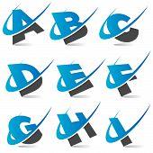 Swooh Alphabet Set 1