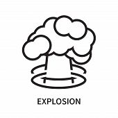 Explosion Icon Isolated On White Background. Explosion Icon Simple Sign. Explosion Icon Trendy And M poster