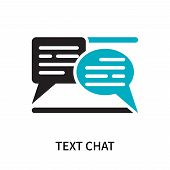 Text Chat Icon Isolated On White Background. Text Chat Icon Simple Sign. Text Chat Icon Trendy And M poster