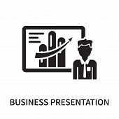 Business Presentation Icon Isolated On White Background. Business Presentation Icon Simple Sign. Bus poster