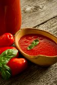 image of household farm  - bowl with tomato sauce - JPG