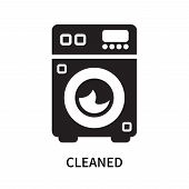 Cleaned Icon Isolated On White Background. Cleaned Icon Simple Sign. Cleaned Icon Trendy And Modern  poster