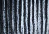 Background And Texture Of Silky Pleated Velvet Fabric In Silver Color poster