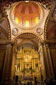 Guadalupita Church Interior Altar Dome Morelia Mexico