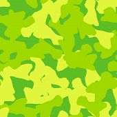 Spring Ufo Camouflage Of Various Shades Of Yellow And Green Colors poster