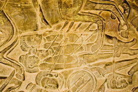 picture of mahabharata  - Dead bodies of soldiers show with arrows - JPG