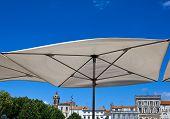 Terrace umbrella in Rochefort