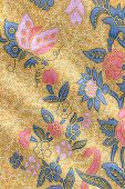 Yellow Batik With Butterfly