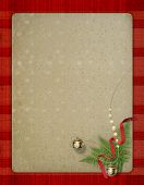 The Old Grunge Postcard. Congratulation To Christmas Or  New Year