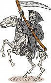 Grim Reaper On Hroseback