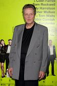 LOS ANGELES - 30 de OCT: Christopher Walken en el estreno de