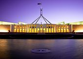 CANBERRA - NOV 08: this is Australia's landmark parliament house where both sides of the federal gov