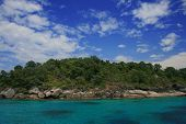 Stone Beach And Forest Of Similan Islands,
