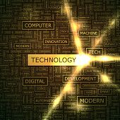 TECHNOLOGY. Word collage.