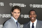 LOS ANGELES - OCT 1: Pau Gasol, Dwight Howard at the Time Warner Sports Launch of TWC Sportsnet and