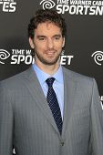 LOS ANGELES - OCT 30:  Pau Gasol arrives at the Time Warner Sports Launch of TWC Sportsnet at TWC Sp