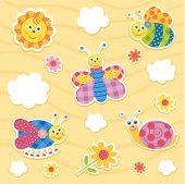 Vector icon set insectos