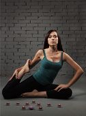 Yung Woman Doing Yoga