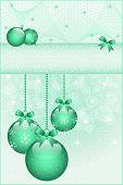 Green Christmas Balls And Bows