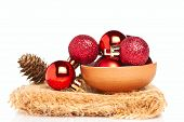 Red Baubles With Cone