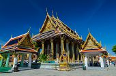 Crowds Of People At Ubosot And The Emerald Buddha In Wat Phra Kaeo