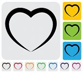 Heart(love) humana abstracta Icon(symbol)-Simple Vector Graphic