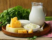 stock photo of milk products  - still life of dairy products  - JPG