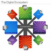 An image of a digital ecosystem chart.