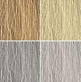 Satz von 4 gaufriert Papier Texturen: Braun, gelb, grau und weiß