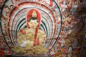 Paintings With Buddha On Temple Ceilling