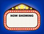 pic of matinee  - A movie theatre or theatre marquee with the text  - JPG