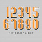 Retro style numbers