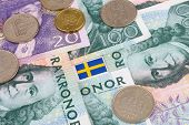 Swedish Kroner & Flag