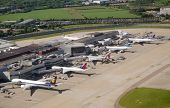 Aerial view of Heathrow Airport