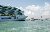 Cruise Liner entering Venice