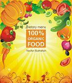 Abstract Elegance food design. Vegetable vector illustration, not crop version