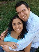 Hispanic Couple In Love