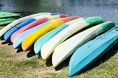 Colourful Kayaks