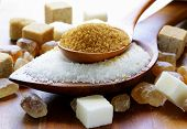 stock photo of sugar  - Various kinds of sugar - JPG