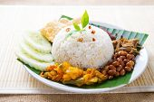 Nasi lemak, malay traditional rice meal