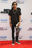 LOS ANGELES - JUN 30: Wiz Khalifa at the 2013 BET Awards at Nokia Theater L.A. Live on June 30, 2013