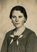 CZESTOCHOWA, POLAND, CIRCA 20 JUNE 1938 - vintage portrait of unidentified woman, Czestochowa, Poland, circa 20 June 1938