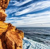 Rocky headland on the Atlantic coast of the Cape Peninsula, South Africa, most south-western point o