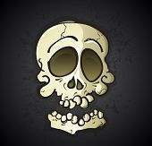 Skull Cartoon Character