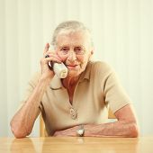 Senior woman talking on the phone