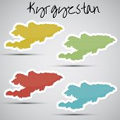 stickers in form of Kyrgyzstan