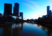 Vista panorámica de Melbourne desde puente Southbank