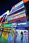 SAPPORO - OCTOBER 17: The Susukino District October 17, 2012 in Sapporo, JP. Susukino is one of the